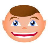 Rapture boy. Illustration of delight boy and smile Royalty Free Stock Photography