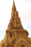 沙子雕塑-在她的塔的Rapunzel 库存图片