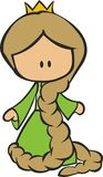 Rapunzel cartoon royalty free illustration