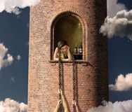 Rapunzel and her lovers 2 Stock Photo