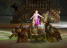 Rapunzel presteert in Disney op Ijs Stock Foto's
