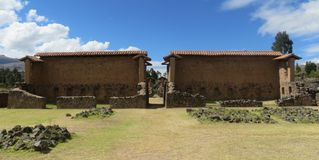Raqch`i Temple. Incan built Temple of Wiracocha. Located at Raqch`i, in the Cusco region of Peru Stock Photos