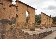 Raqchi废墟,库斯科省,秘鲁 图库摄影