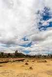 Raqchi, Inca archaeological site in Cusco, Peru  Ruin of Temple at Chacha,South America Royalty Free Stock Photography