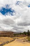 Raqchi, Inca archaeological site in Cusco, Peru  Ruin of Temple of Chacha,South America Royalty Free Stock Image