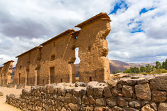 Raqchi, Inca archaeological site in Cusco, Peru (Ruin of Temple of Wiracocha) at Chach Royalty Free Stock Photo