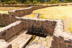 Raqchi, Inca archaeological site in Cusco, Peru (Ruin of Temple of Wiracocha) at Chacha,America Royalty Free Stock Images