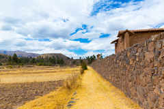 Raqchi, Inca archaeological site in Cusco, Peru (Ruin of Temple of Wiracocha) at Chacha,America. Raqchi, Inca archaeological site in Cusco, Peru (Ruin of Temple Royalty Free Stock Image