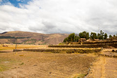 Raqchi, Inca archaeological site in Cusco, Peru (Ruin of Temple of Wiracocha) at Chacha,America Stock Photos
