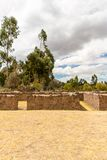 Raqchi, Inca archaeological site in Cusco, Peru  Ruin of Temple of Wiracocha  at Chacha,America Royalty Free Stock Photography