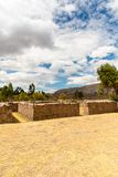 Raqchi, Inca archaeological site in Cusco, Peru  Ruin of Temple of Wiracocha,South America Royalty Free Stock Image