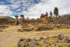 Raqchi-Ruinen, Cuzco, Peru Stockfotos