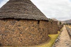 Raqchi-Ruinen, Cuzco, Peru Stockfotografie