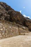 Raqchi, sito archeologico di inca in Cusco, Peru Ruin del tempio di Wiracocha Fotografia Stock Libera da Diritti
