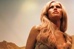 Raquel figury woskowej Welch postać Obrazy Royalty Free