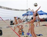 Raquel Johnston - punto del voleibol de la playa Imágenes de archivo libres de regalías