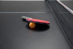 Raqueta de tenis de vector con la bola anaranjada Imagen de archivo
