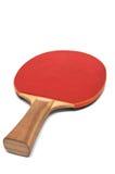 Raqueta roja para el ping-pong Imagen de archivo libre de regalías