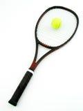 Raqueta y bola de tenis Foto de archivo