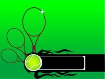 Raqueta y bola de tenis Imagen de archivo
