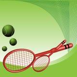 Raquetas de tenis Foto de archivo libre de regalías