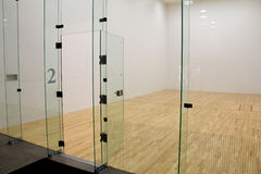 Raquetball domstol Arkivfoton