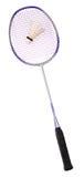 Raquete de Badminton e Shuttlecock Imagens de Stock