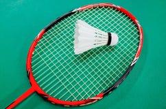 Raquete de Badminton e Shuttlecock Fotos de Stock Royalty Free