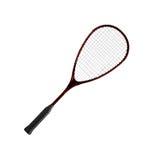 Raquete de Badminton em um fundo branco imagens de stock
