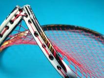 Raquete de badminton quebrada Foto de Stock Royalty Free