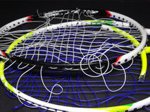 Raquete de badminton quebrada Imagem de Stock Royalty Free