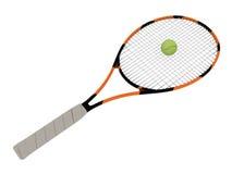 Raquete de tênis Fotografia de Stock Royalty Free