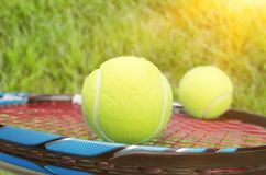 Raquete de tênis foto de stock