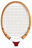 Raquete de tênis de madeira Foto de Stock