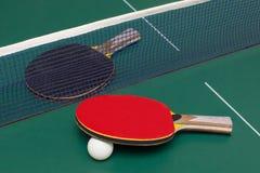 Raquete de tênis de mesa dois Imagens de Stock