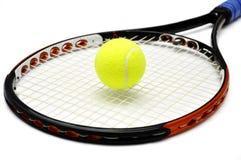 Raquete de tênis e bal Imagens de Stock