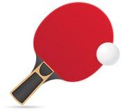 A raquete e a bola para o tênis de mesa sibilam o vetor do pong  Fotografia de Stock Royalty Free
