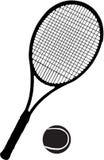 Raquete e esfera de tênis Imagens de Stock Royalty Free