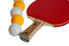 Raquete e esfera de tênis da tabela Imagens de Stock Royalty Free