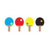 Raquete e esfera do pong do sibilo Imagem de Stock
