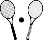 Raquetes de tênis Imagem de Stock Royalty Free