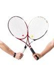 Raquetes de tênis cruzadas Fotos de Stock Royalty Free