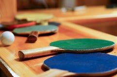 Raquetes de tênis de mesa Imagens de Stock Royalty Free