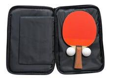 Raquetes de tênis de mesa com tampa Foto de Stock