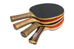 Raquetes de tênis de mesa isoladas no fundo branco Fotografia de Stock Royalty Free