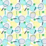 Raquetes e bolas de tênis ilustração do vetor