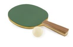 Raquetes e esfera de tênis da tabela Fotos de Stock Royalty Free