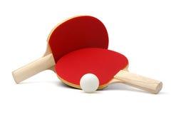 Raquetes e esfera do Ping-pong Foto de Stock