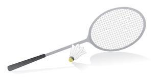 Raquette de badminton avec la navette Images libres de droits