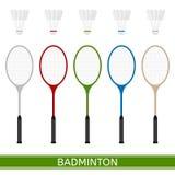 Raquette de badminton et shuttlecock illustration stock